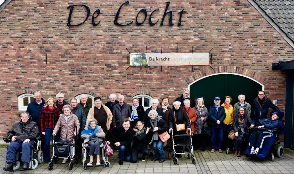 Groepsfoto bezoek De Locht